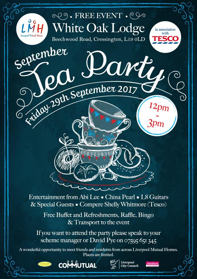 TEA PARTY 29th Sept Poster